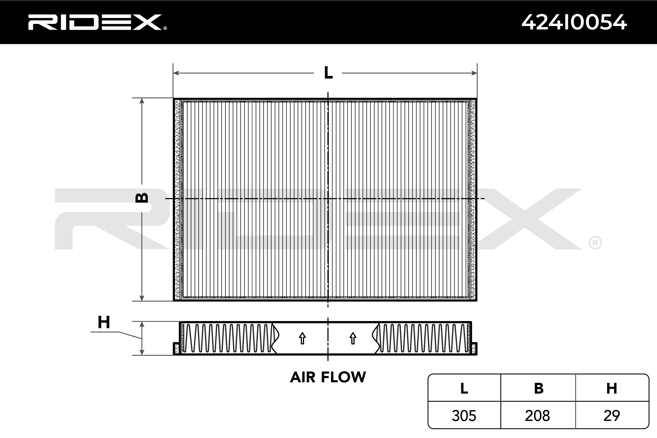 Innenraumfilter 424I0054 RIDEX 424I0054 in Original Qualität