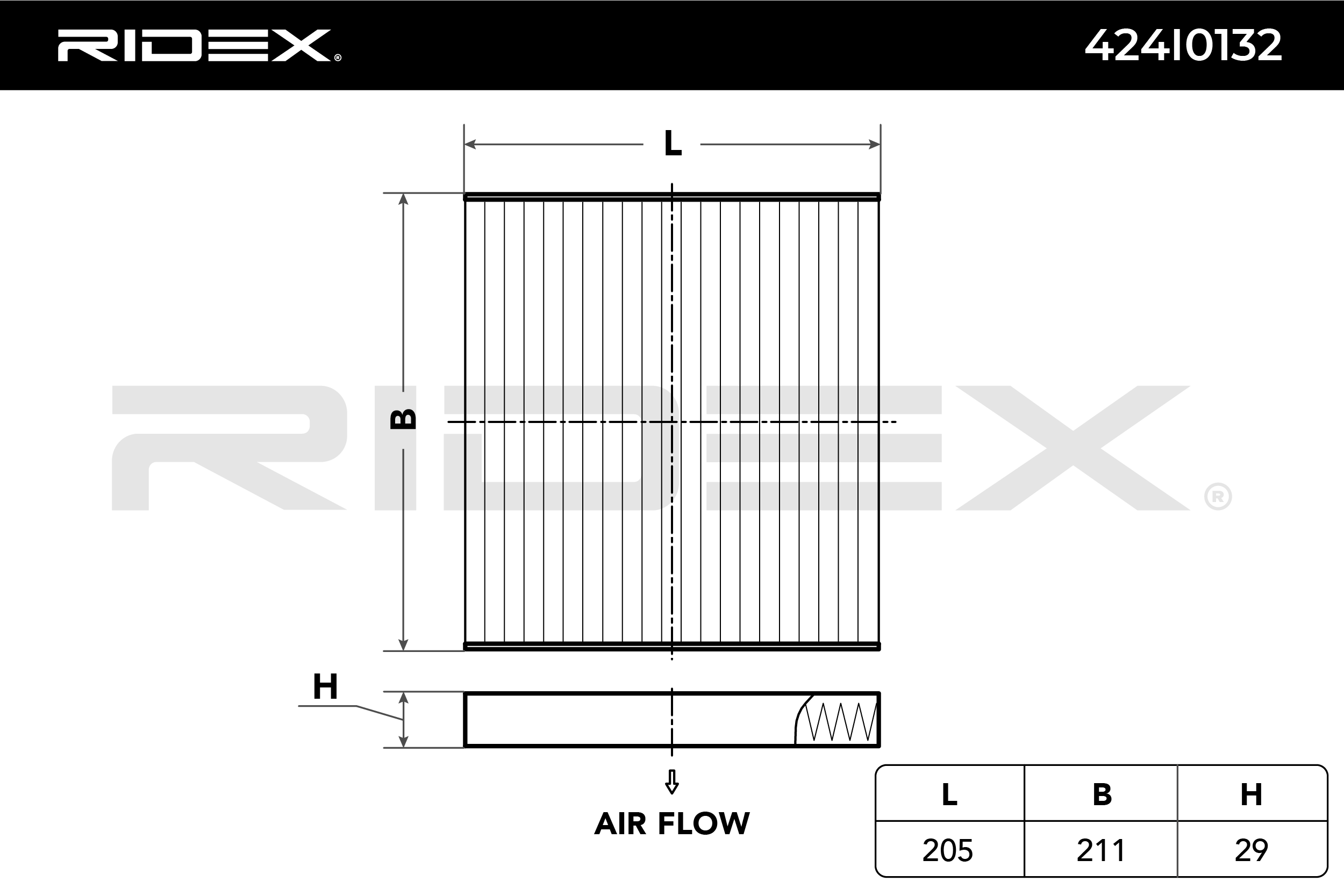 Cabin Air Filter RIDEX 424I0132 expert knowledge