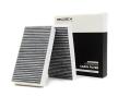 Cabin filter MERCEDES-BENZ M-Class (W164) 2012 year 8001404 RIDEX Charcoal Filter