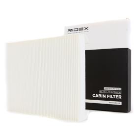 Filter, Innenraumluft Länge: 254mm, Breite: 200mm, Höhe: 30mm mit OEM-Nummer 6447FF