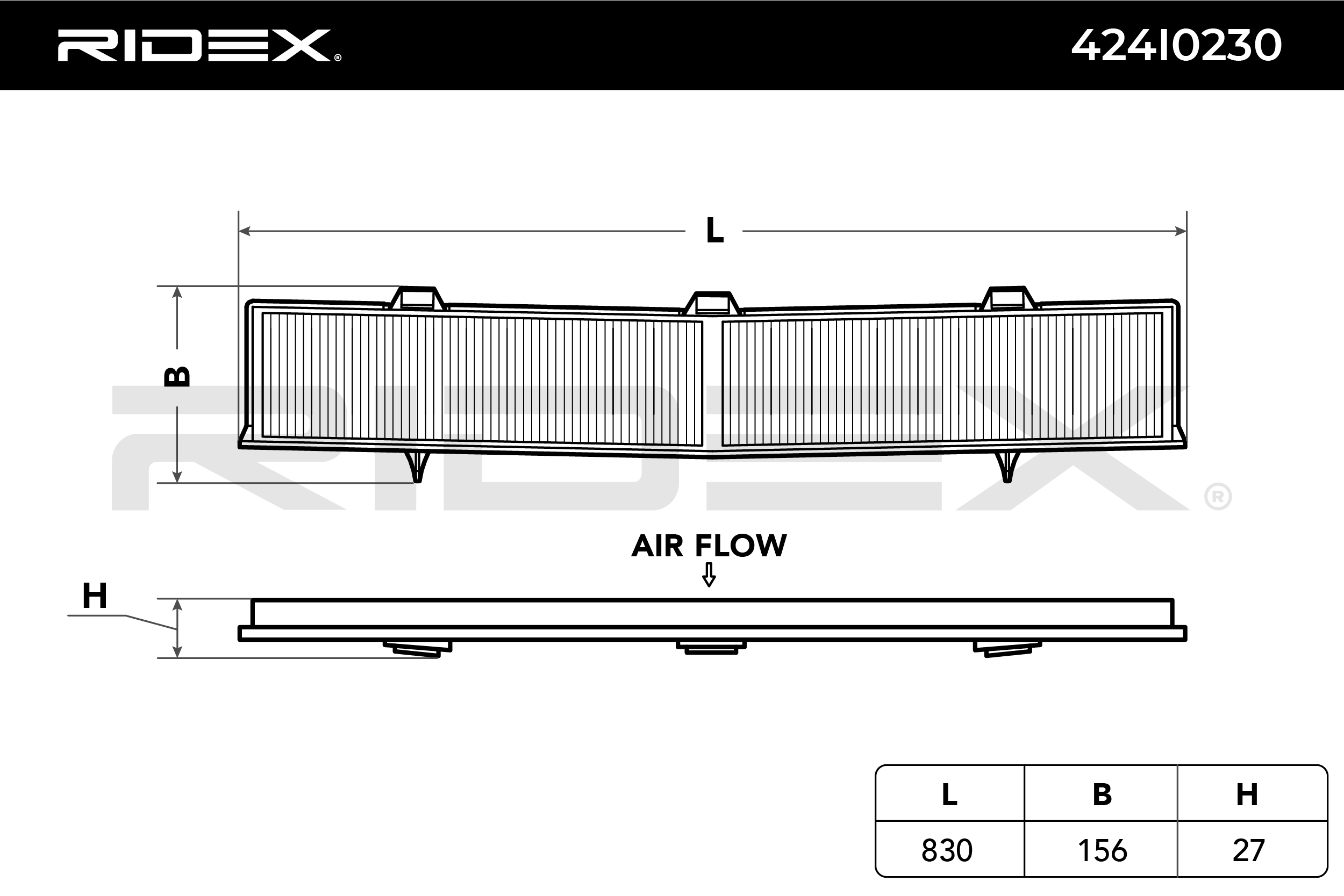 Cabin Air Filter RIDEX 424I0230 expert knowledge