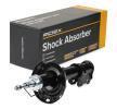 RIDEX 8001751 Front Axle Right, Twin-Tube, Gas Pressure, Suspension Strut, Bottom Clamp, Top pin