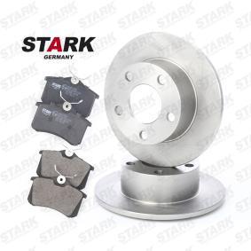 Kit frenos, freno de disco Espesor disco freno: 10mm con OEM número 1JD698451A