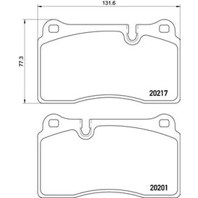 Brake Pad Set, disc brake P 02 002 DB9 Convertible 6.0 MY 2010