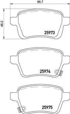 Bremsbeläge P 23 156 BREMBO D17228946 in Original Qualität
