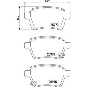 Bremsbelagsatz, Scheibenbremse Breite: 95,7mm, Höhe: 48,2mm, Dicke/Stärke: 16,8mm mit OEM-Nummer 77 366 595