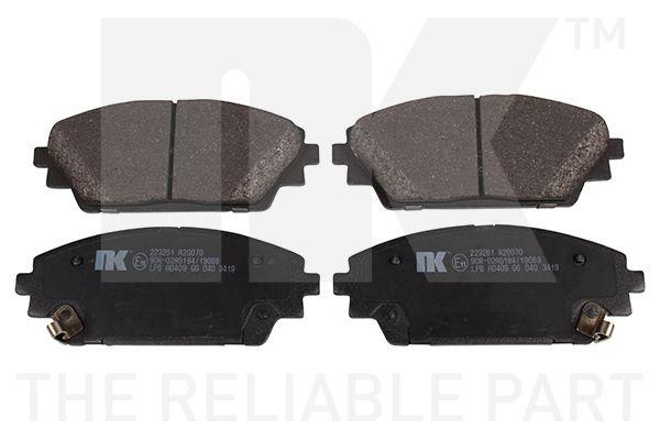 NK  223261 Brake Pad Set, disc brake Width 1: 142mm, Width 2 [mm]: 142mm, Height 1: 55,7mm, Height 2: 55,7mm, Thickness 1: 15,8mm, Thickness 2: 15,8mm