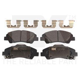 NK  223450 Bremsbelagsatz, Scheibenbremse Breite 1: 132,50mm, Höhe 1: 50,50mm, Dicke/Stärke 1: 15,80mm