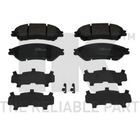Bremsbelagsatz, Scheibenbremse Breite 1: 141,90mm, Höhe 1: 55,00mm, Dicke/Stärke 1: 15,80mm mit OEM-Nummer 55810-61M50