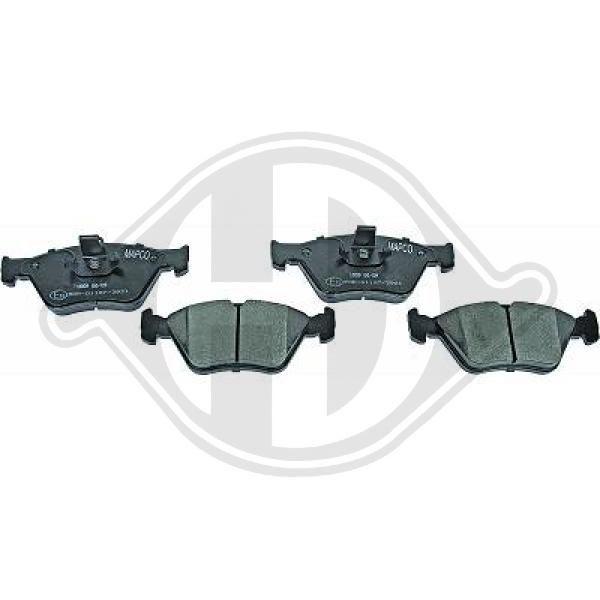 DIEDERICHS  1184420 Bremsbelagsatz, Scheibenbremse Breite: 155,1mm, Höhe: 60,7mm, Dicke/Stärke: 17,5mm