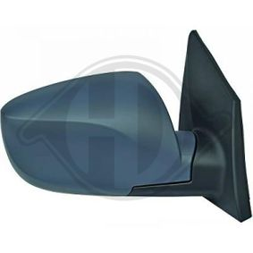 DIEDERICHS Side view mirror Left, Complete Mirror, Convex, Electronically foldable, for electric mirror adjustment, Heated, Primed