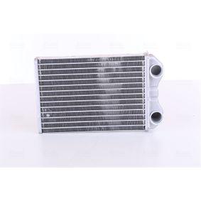 Wärmetauscher, Innenraumheizung Kühlrippen gelötet, Aluminium mit OEM-Nummer 64111497527