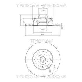 Bremsscheibe Bremsscheibendicke: 10mm, Lochanzahl: 4, Ø: 226mm mit OEM-Nummer 6N0.615.601