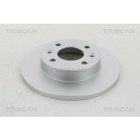 TRISCAN Brake disc kit Solid, Coated