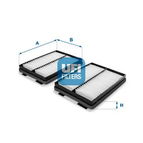 Filter, Innenraumluft Länge: 273,0mm, Breite: 203,0mm, Höhe: 35,0mm mit OEM-Nummer 6431 8391 198