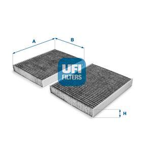UFI  54.231.00 Filter, Innenraumluft Länge: 246,0mm, Breite: 206,0mm, Höhe: 30,0mm