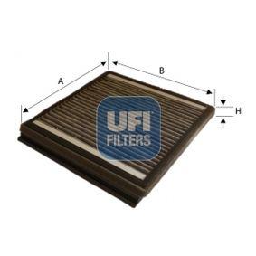 Filter, Innenraumluft Länge: 217,0mm, Breite: 210,0mm, Höhe: 18,0mm mit OEM-Nummer 6447PF
