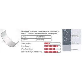 Kurbelwellenlagersatz MB070906 TWINGO 2 (CN0) 1.2 16V Bj 2012