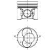 Zylinder/Kolben für VW TOURAN (1T1, 1T2) 1.9 TDI 105 PS ab Baujahr 08.2003 IPSA Kolben (PI005703) für