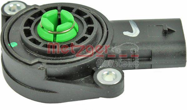 Sensor, Saugrohrumschaltklappe METZGER 0906199 4250032666811