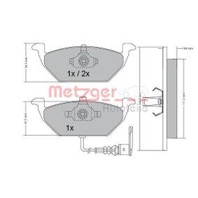 Bremsbelagsatz, Scheibenbremse Breite: 146mm, Höhe: 54,8mm, Dicke/Stärke: 19,5mm mit OEM-Nummer 1J0698151G