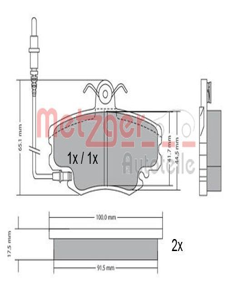 Bremsklötze METZGER 1170009 Erfahrung