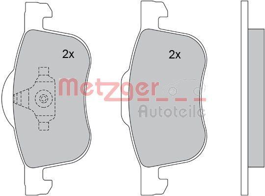 Brake Pads 1170013 METZGER 23074 original quality