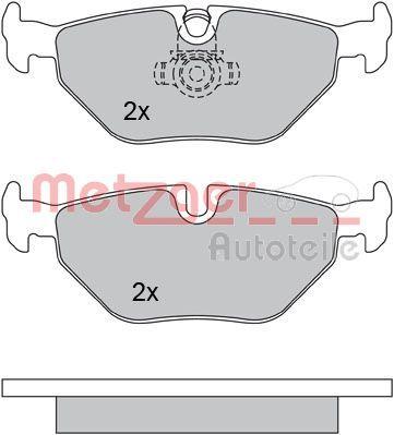 Bremsbeläge 1170014 METZGER 21935 in Original Qualität
