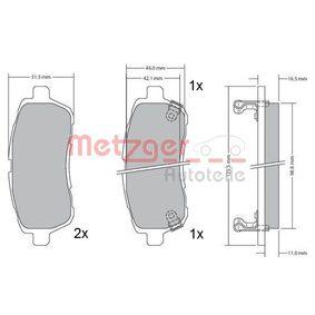 Bremsbelagsatz, Scheibenbremse Breite: 125,7mm, Höhe: 51,7mm, Dicke/Stärke: 15,9mm mit OEM-Nummer 24285