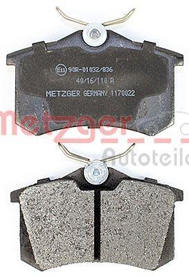 Jogo de pastilhas para travão de disco METZGER 1170022 conhecimento especializado