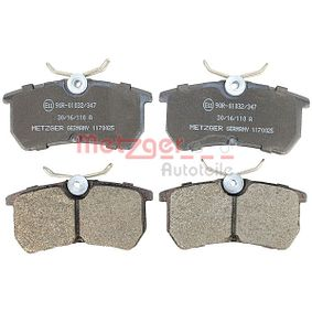 Brake Pad Set, disc brake Width: 87mm, Height: 42,5mm, Thickness: 14mm with OEM Number 1107698