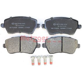 Bremsbelagsatz, Scheibenbremse Breite: 116,4mm, Höhe: 52,4mm, Dicke/Stärke: 17mm mit OEM-Nummer 41060-AX625
