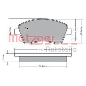 Bremsbelagsatz, Scheibenbremse Breite: 116,4mm, Höhe: 52,4mm, Dicke/Stärke: 17mm mit OEM-Nummer 41-06-084-81R