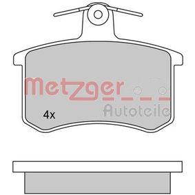 METZGER Bremsbelagsatz, Scheibenbremse 1170030 für AUDI 80 (8C, B4) 2.8 quattro ab Baujahr 09.1991, 174 PS