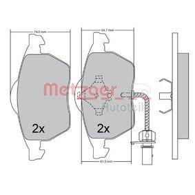Kit pastiglie freno, Freno a disco Largh.: 156,4mm, Alt.: 74,4mm, Spessore: 19,9mm con OEM Numero 4B0 698 151AB