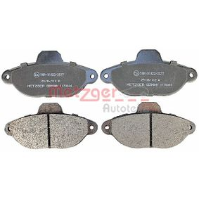 Brake Pad Set, disc brake 1170044 PANDA (169) 1.2 MY 2004