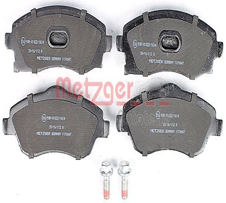 Bremsbeläge 1170047 METZGER 077460 in Original Qualität