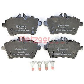 Brake Pad Set, disc brake Width: 116,6mm, Height: 64,2mm, Thickness: 18,7mm with OEM Number 169 420 1320