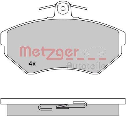 Bremsbeläge 1170061 METZGER 21945 in Original Qualität