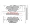 OEM Brake Pad Set, disc brake METZGER 23067 for OPEL