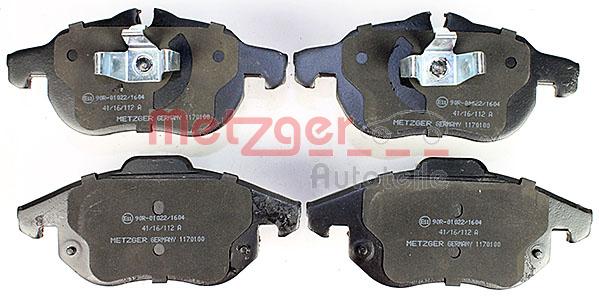 Bremsbelagsatz METZGER 1170100 Bewertung