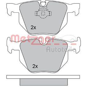 METZGER Bremsbelagsatz, Scheibenbremse 1170105 für BMW 5 (E60) 530 xi ab Baujahr 01.2007, 272 PS