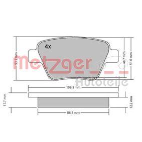 Bremsbelagsatz, Scheibenbremse Breite: 109,5mm, Höhe: 53,6mm, Dicke/Stärke: 15,8mm mit OEM-Nummer 5K0 698 451 A