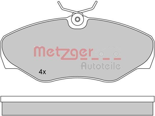 Bremsbeläge 1170110 METZGER 23099 in Original Qualität