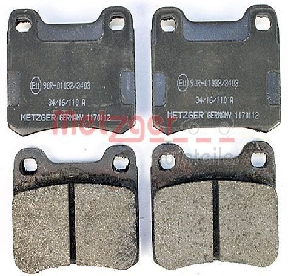 Bremsbeläge 1170112 METZGER 20687 in Original Qualität