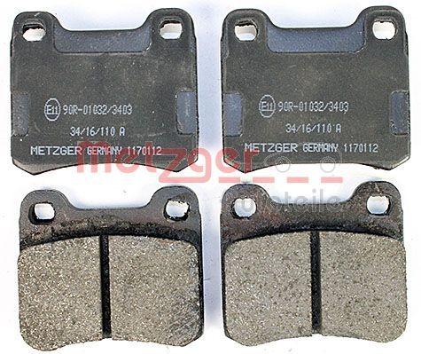 Bremsbelagsatz METZGER 1170112 Bewertung