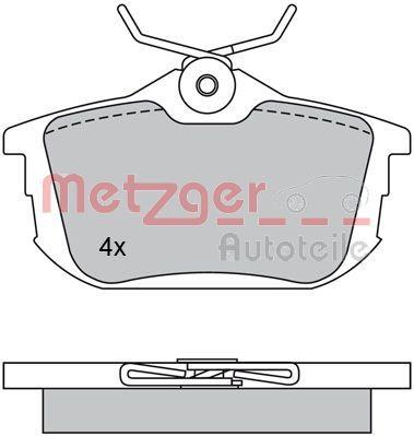 Bremsbeläge 1170118 METZGER 21861 in Original Qualität