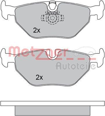 Bremsbeläge 1170120 METZGER 21891 in Original Qualität