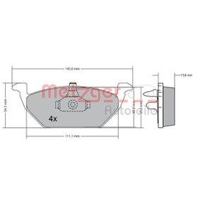 Bremsbelagsatz, Scheibenbremse Breite: 146mm, Höhe: 54,8mm, Dicke/Stärke: 20mm mit OEM-Nummer 1J0-698-151