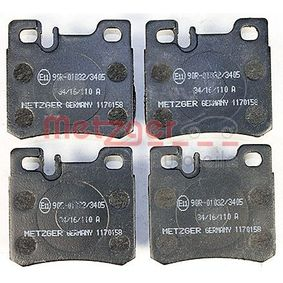 Bremsbelagsatz, Scheibenbremse Breite: 61,5mm, Höhe: 58,3mm, Dicke/Stärke: 15mm mit OEM-Nummer A001 420 9520